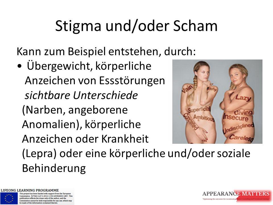 Stigma und/oder Scham Kann zum Beispiel entstehen, durch: