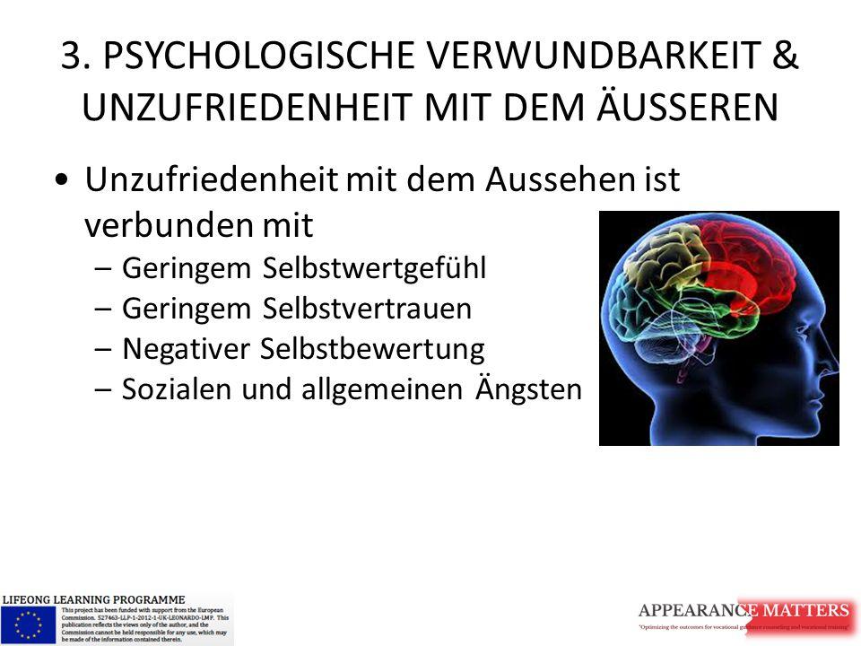3. PSYCHOLOGISCHE VERWUNDBARKEIT & UNZUFRIEDENHEIT MIT DEM ÄUSSEREN