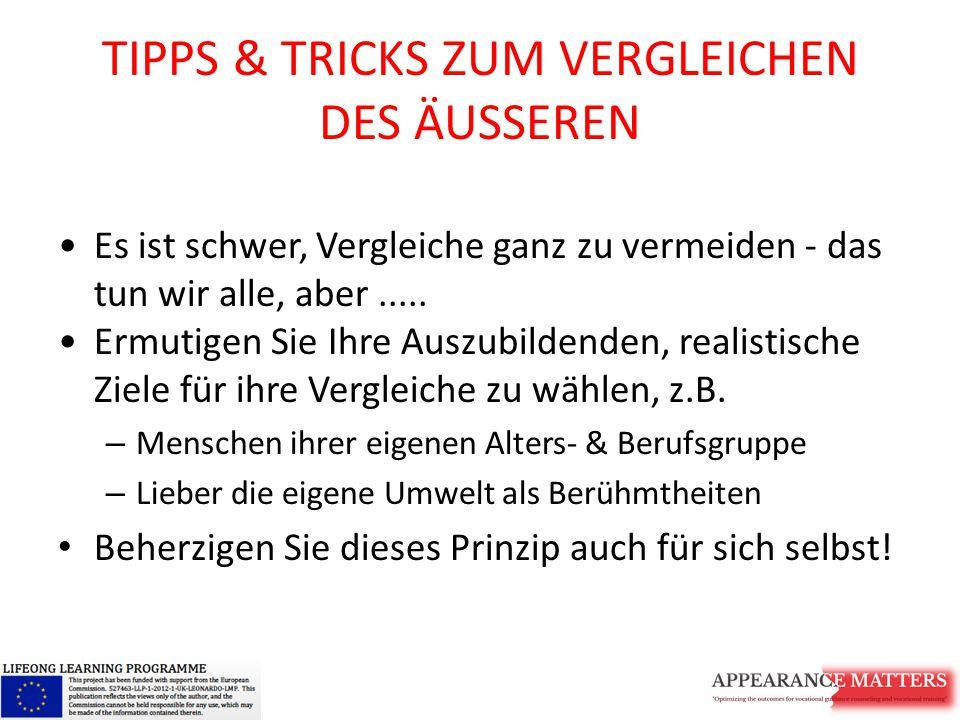 TIPPS & TRICKS ZUM VERGLEICHEN DES ÄUSSEREN