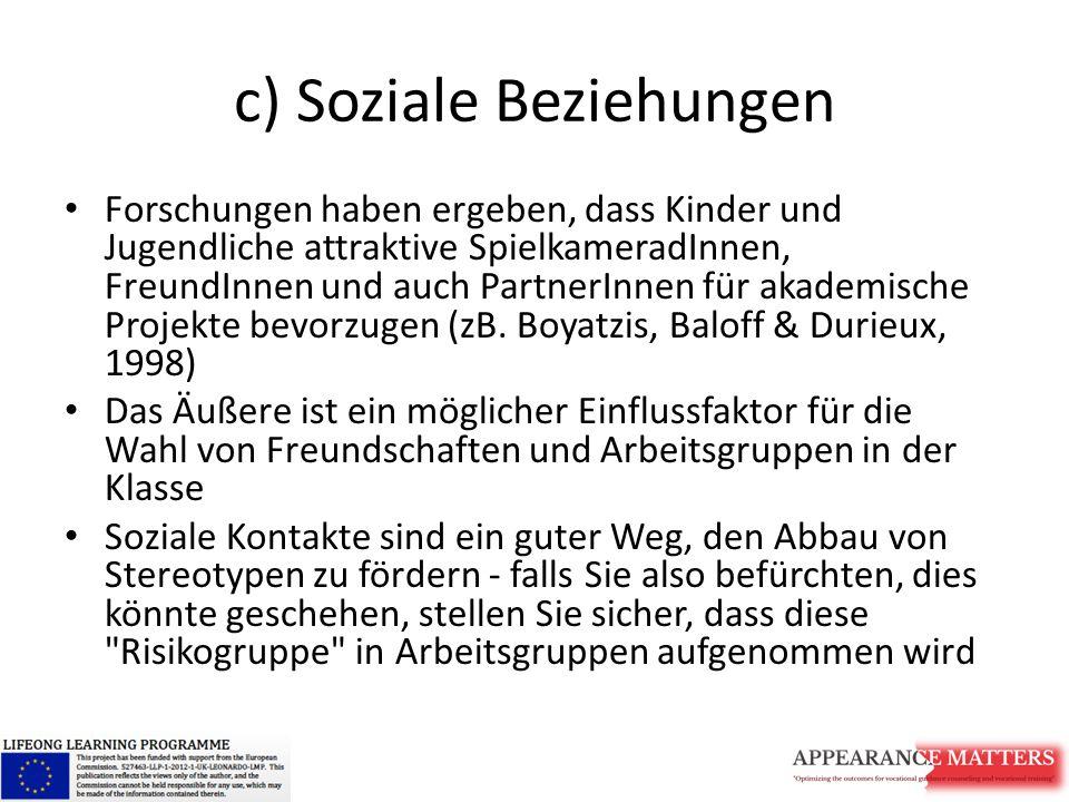 c) Soziale Beziehungen