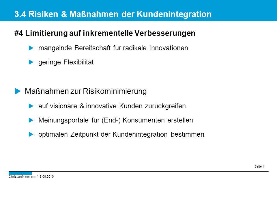 3.4 Risiken & Maßnahmen der Kundenintegration