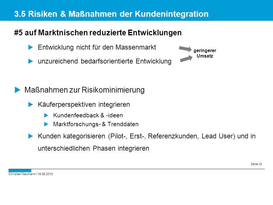 3.5 Risiken & Maßnahmen der Kundenintegration