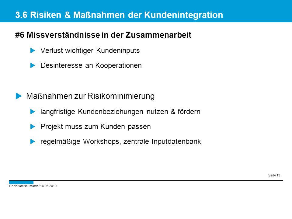 3.6 Risiken & Maßnahmen der Kundenintegration
