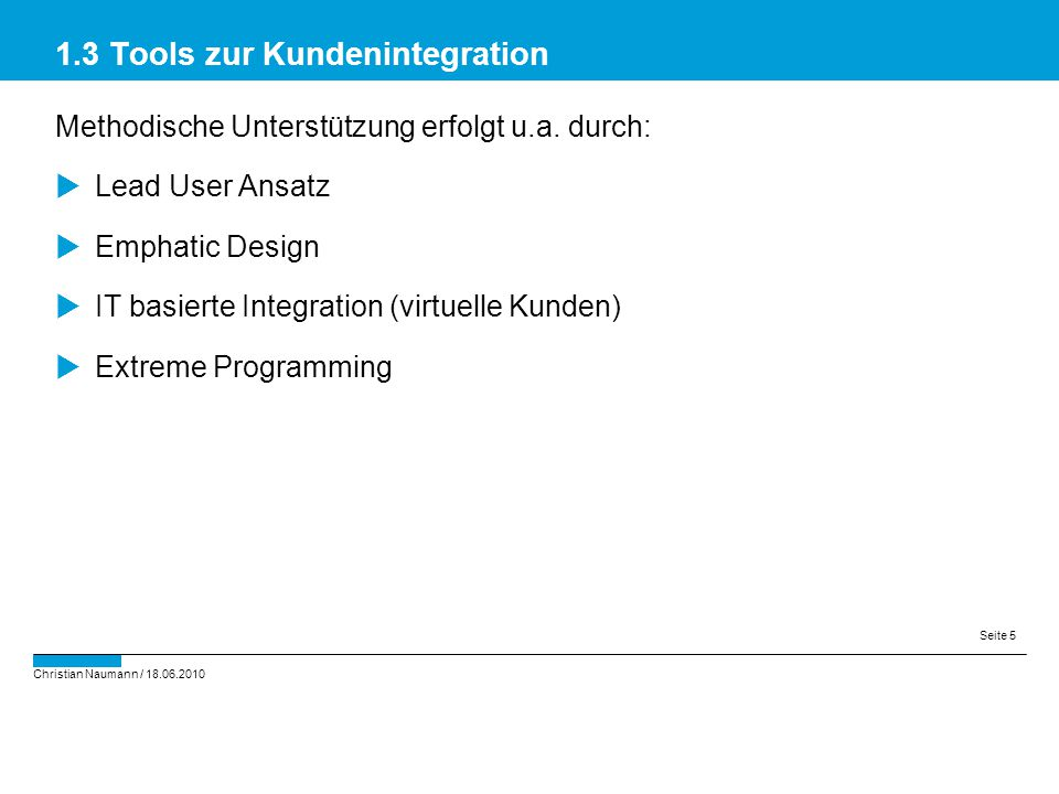 1.3 Tools zur Kundenintegration