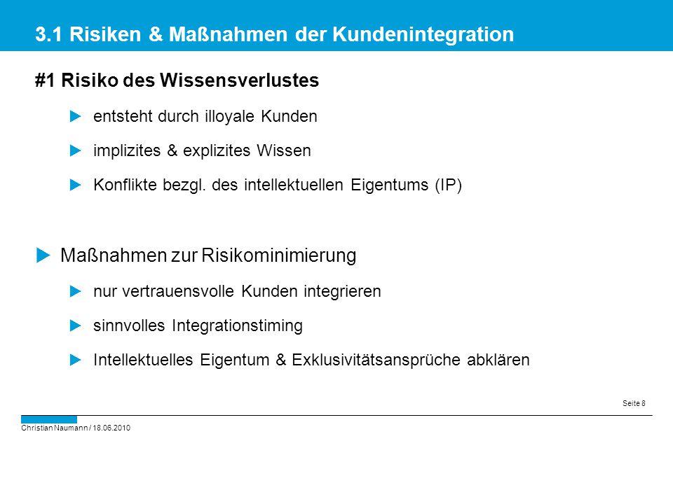 3.1 Risiken & Maßnahmen der Kundenintegration