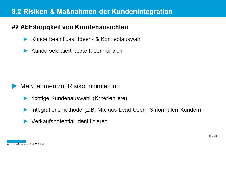3.2 Risiken & Maßnahmen der Kundenintegration