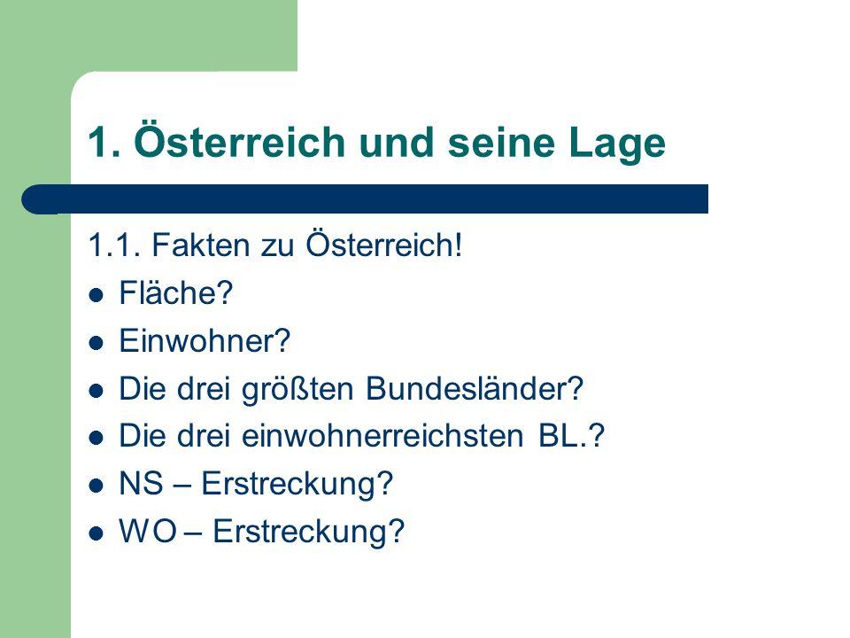 1. Österreich und seine Lage