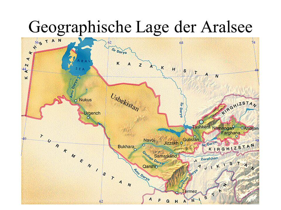 Geographische Lage der Aralsee