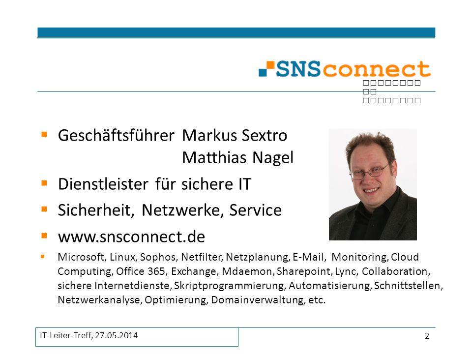 Geschäftsführer Markus Sextro Matthias Nagel