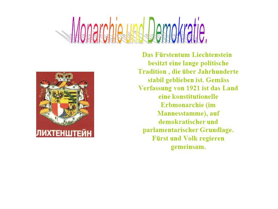 Monarchie und Demokratie.