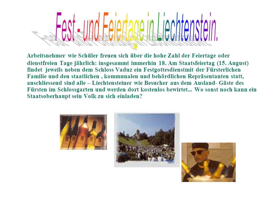 Fest - und Feiertage in Liechtenstein.