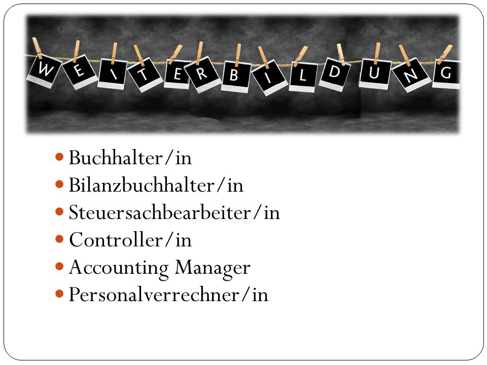 Buchhalter/in Bilanzbuchhalter/in. Steuersachbearbeiter/in.