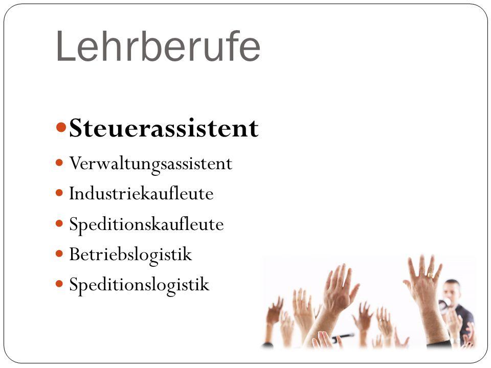 Lehrberufe Steuerassistent Verwaltungsassistent Industriekaufleute