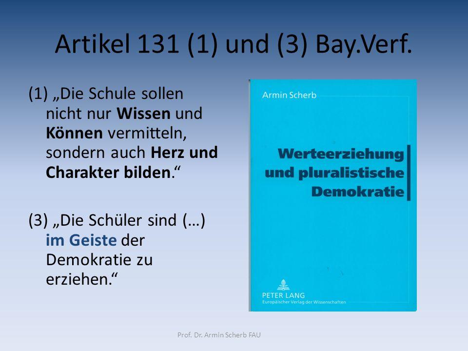 Artikel 131 (1) und (3) Bay.Verf.