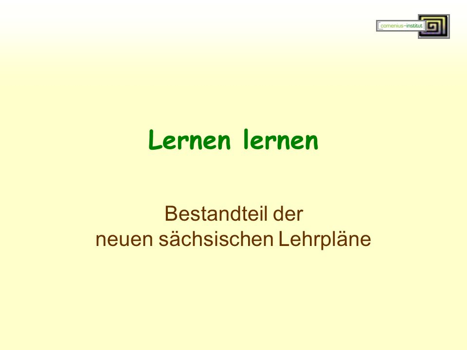 Bestandteil der neuen sächsischen Lehrpläne