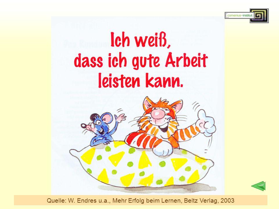Quelle: W. Endres u.a., Mehr Erfolg beim Lernen, Beltz Verlag, 2003