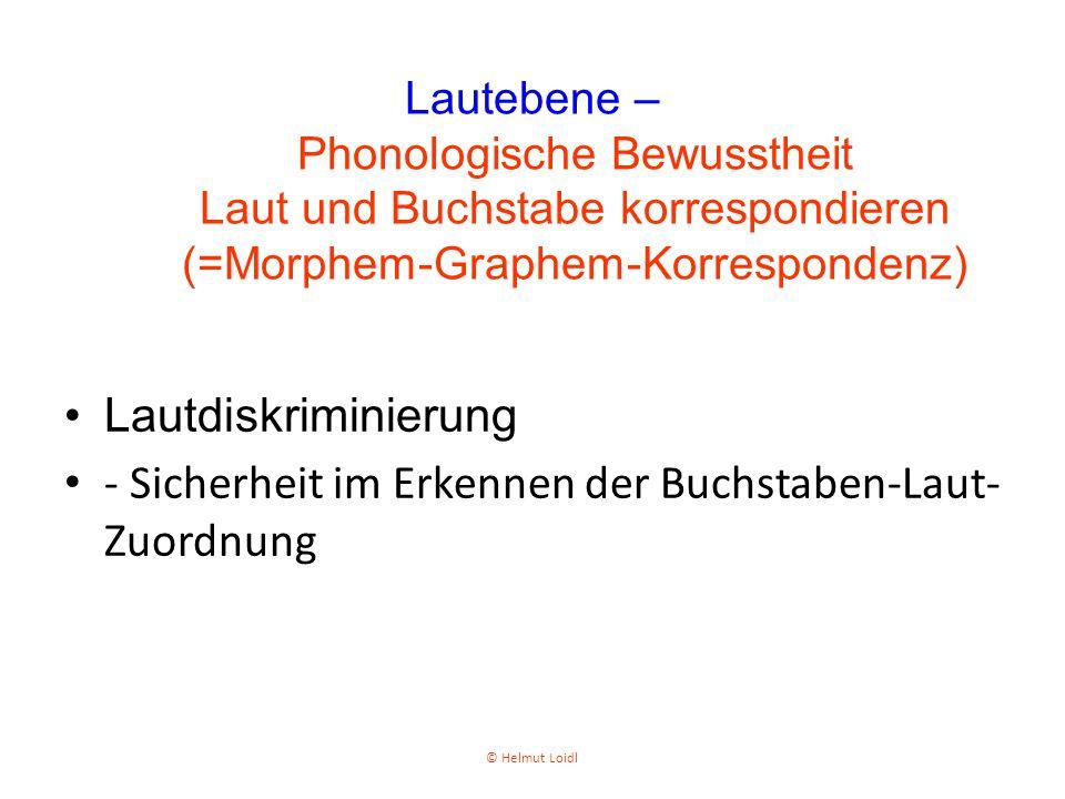 - Sicherheit im Erkennen der Buchstaben-Laut-Zuordnung