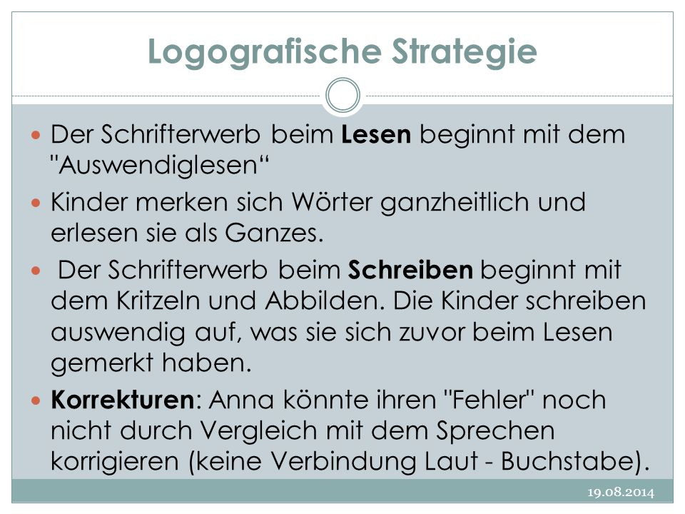 Logografische Strategie