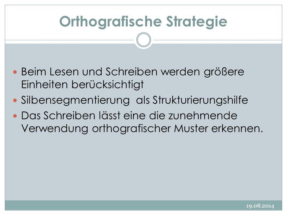 Orthografische Strategie