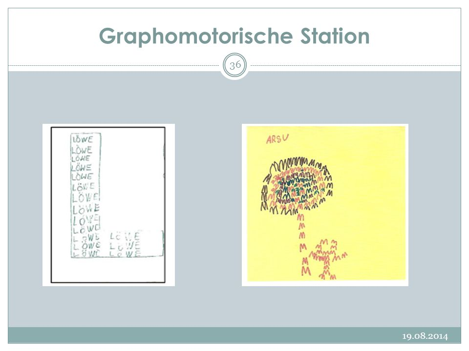 Graphomotorische Station