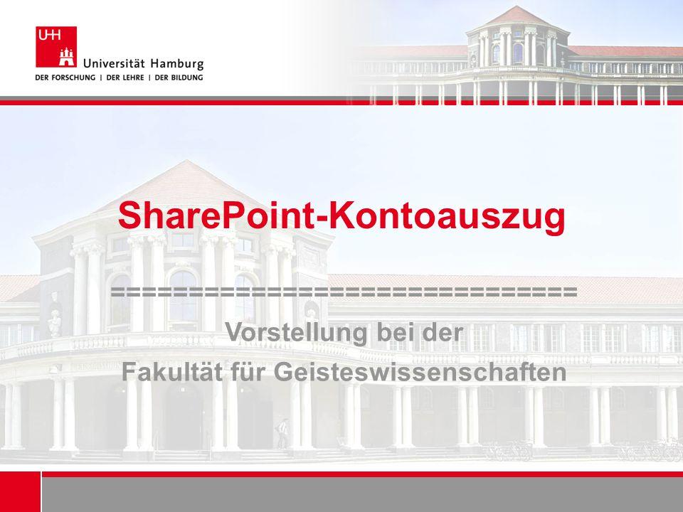 SharePoint-Kontoauszug