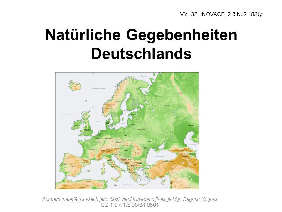 Natürliche Gegebenheiten Deutschlands