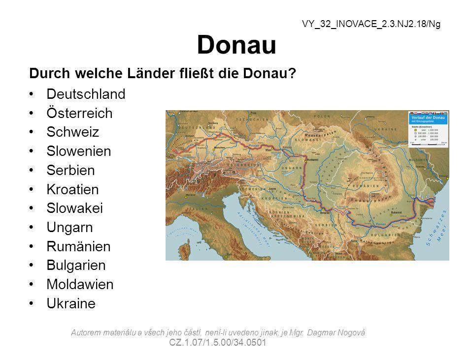 Donau Durch welche Länder fließt die Donau Deutschland Österreich