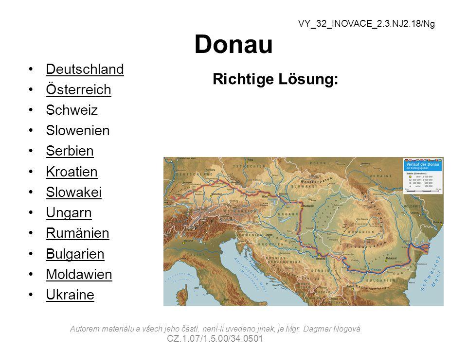 Donau Richtige Lösung: Deutschland Österreich Schweiz Slowenien