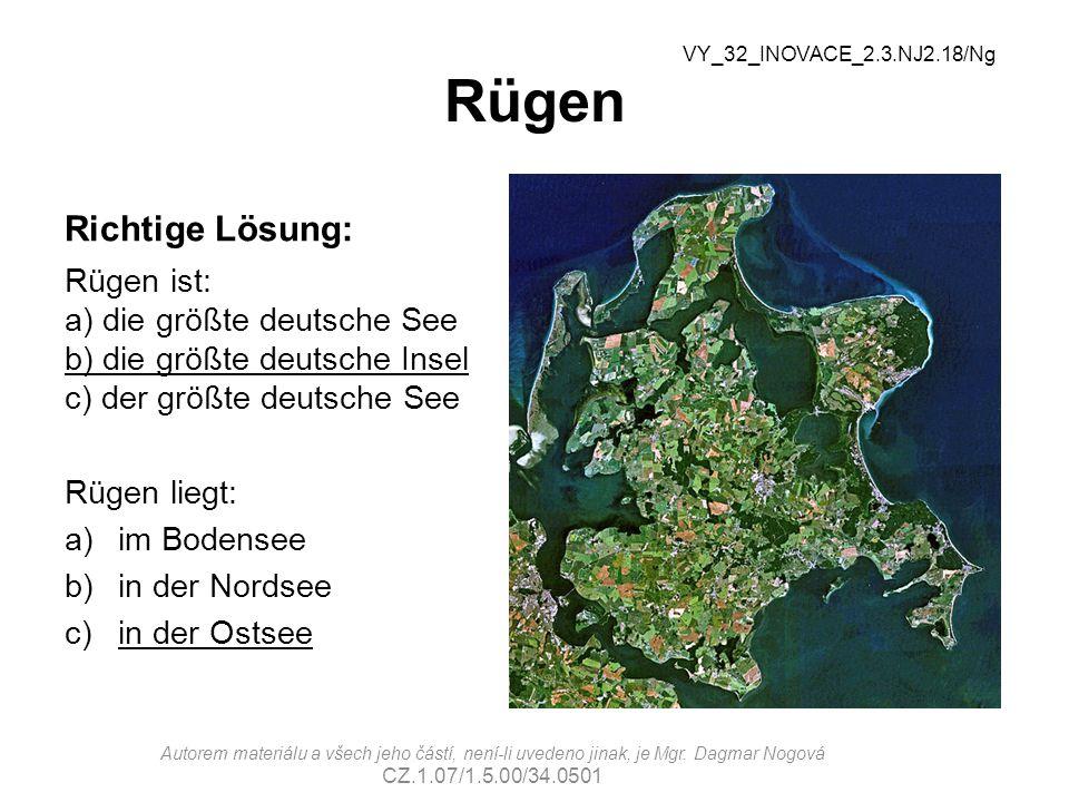 Rügen Richtige Lösung: