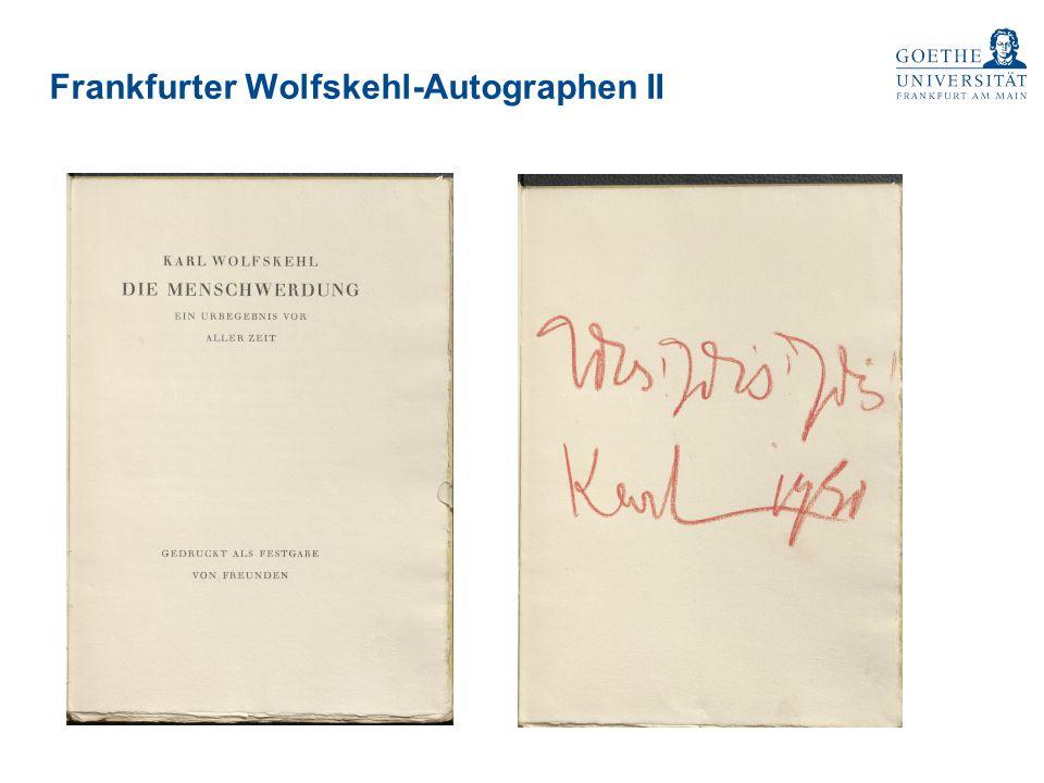 Frankfurter Wolfskehl-Autographen II