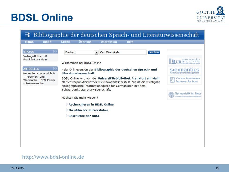 BDSL Online http://www.bdsl-online.de