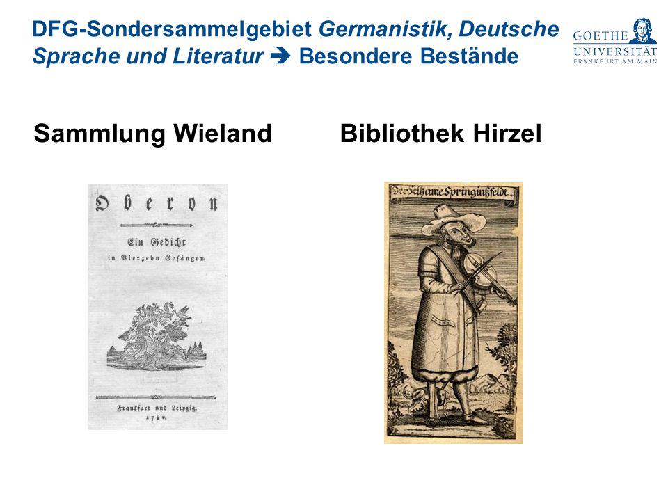 Sammlung Wieland Bibliothek Hirzel