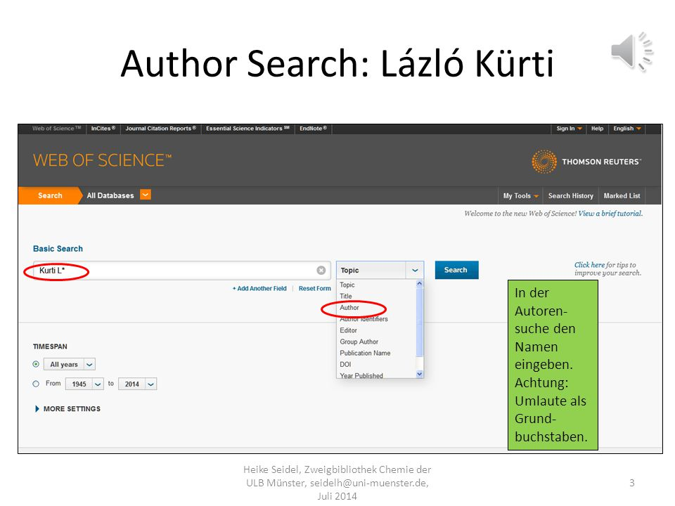 Author Search: Lázló Kürti