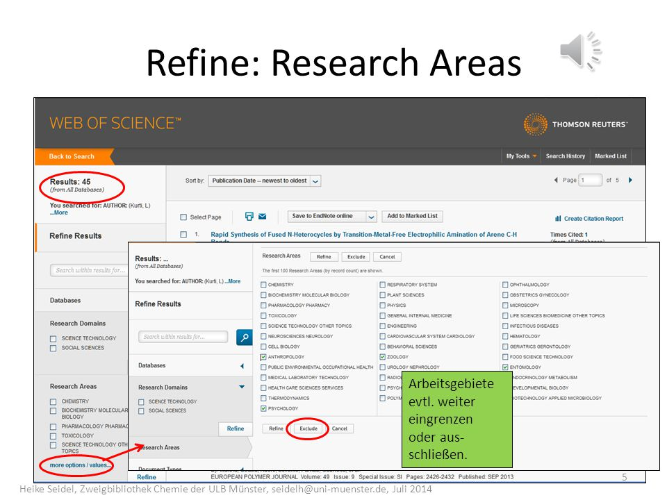 Refine: Research Areas
