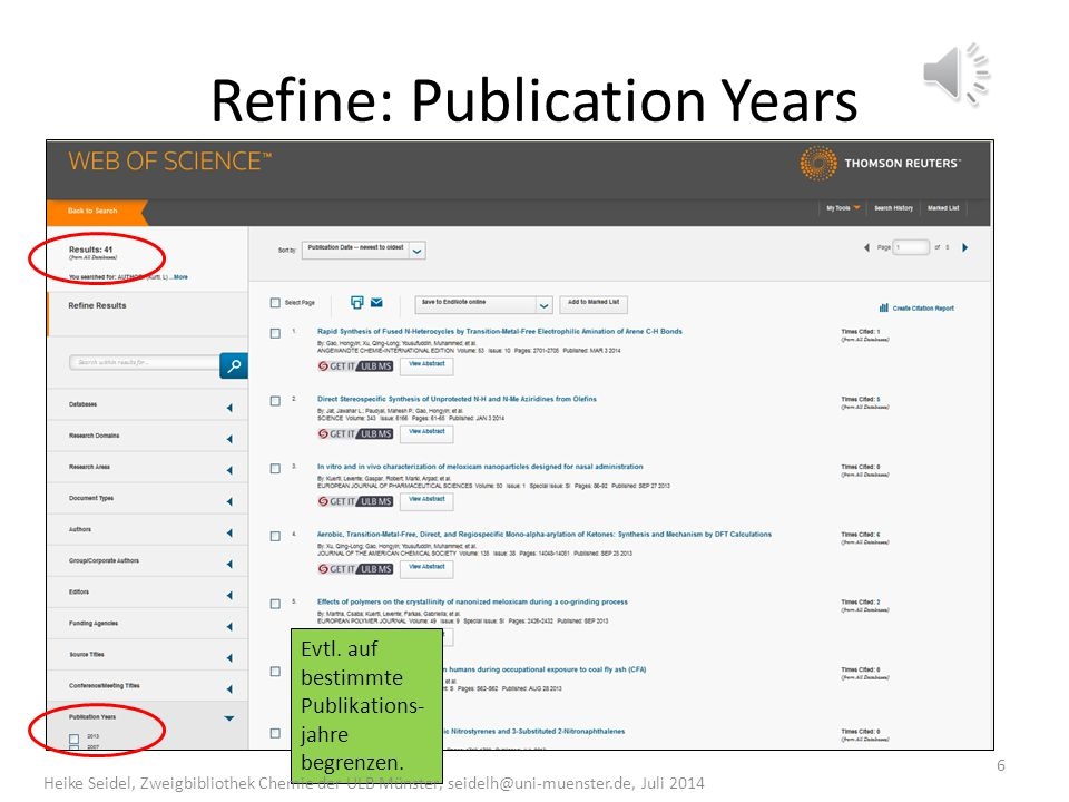 Refine: Publication Years