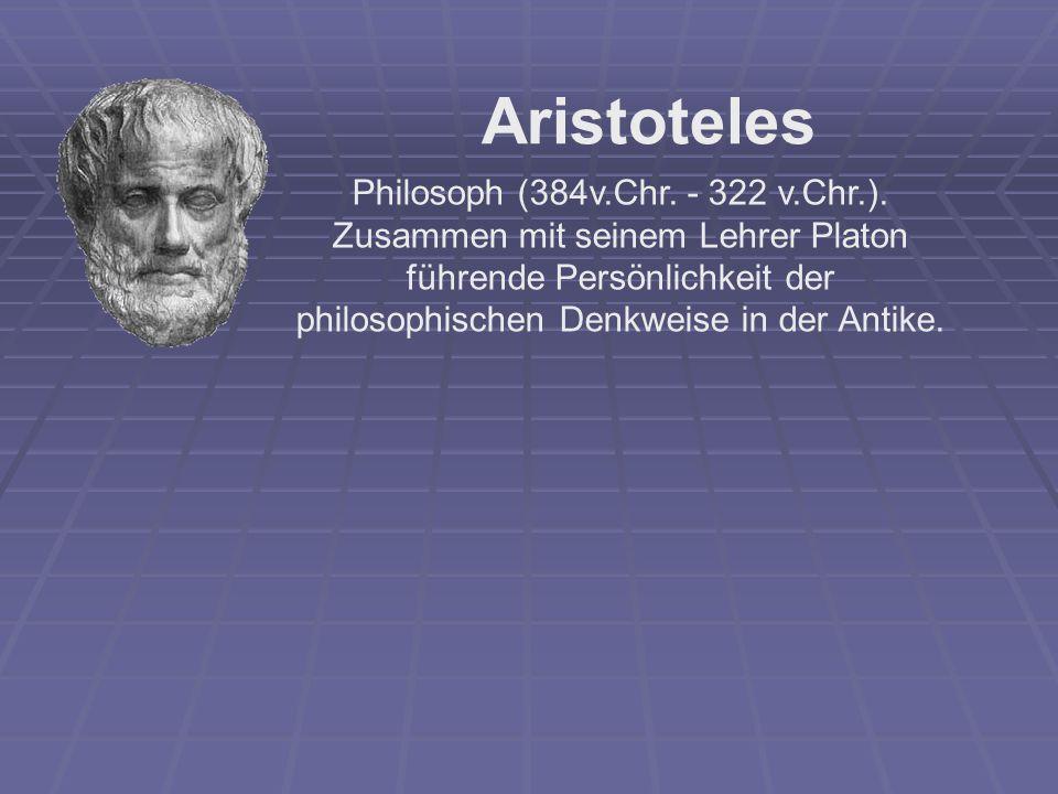 Philosoph (384v.Chr. - 322 v.Chr.).