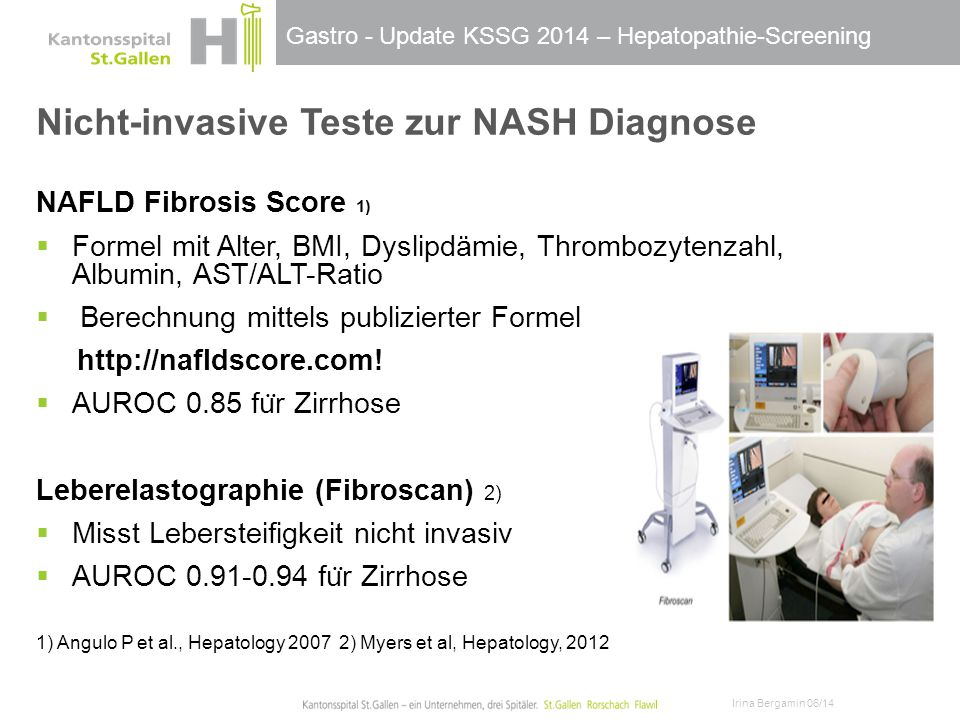 Nicht-invasive Teste zur NASH Diagnose