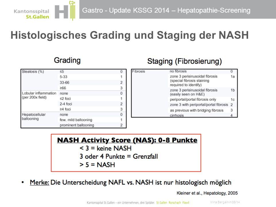 Histologisches Grading und Staging der NASH