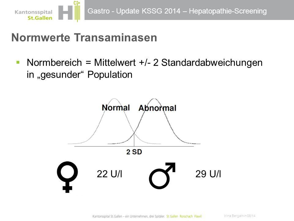 Normwerte Transaminasen