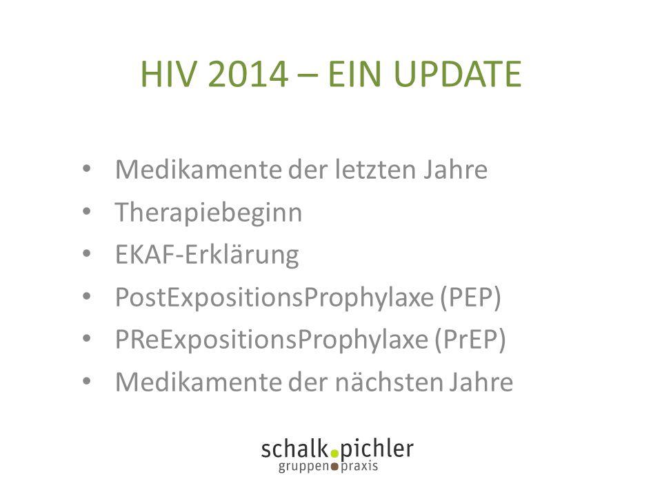HIV 2014 – EIN UPDATE Medikamente der letzten Jahre Therapiebeginn