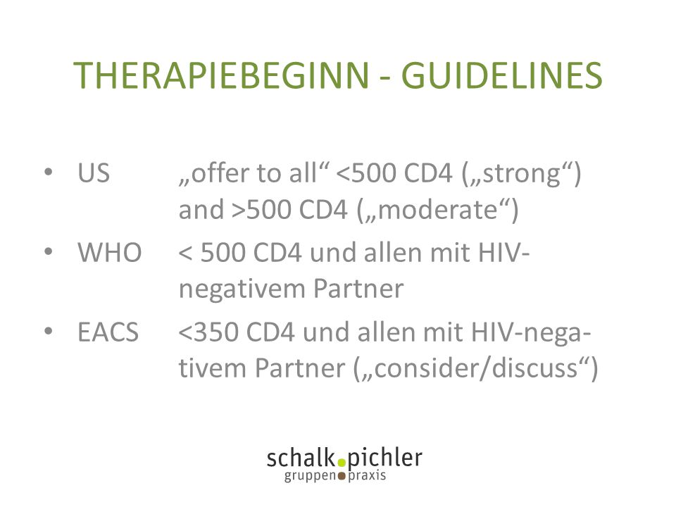 THERAPIEBEGINN - GUIDELINES