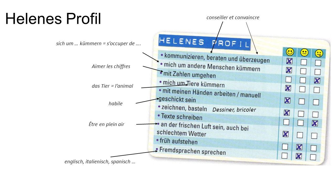 Helenes Profil Dessiner, bricoler conseiller et convaincre