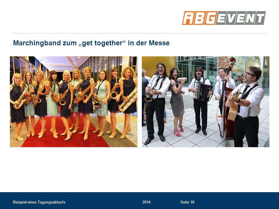 "Marchingband zum ""get together in der Messe"