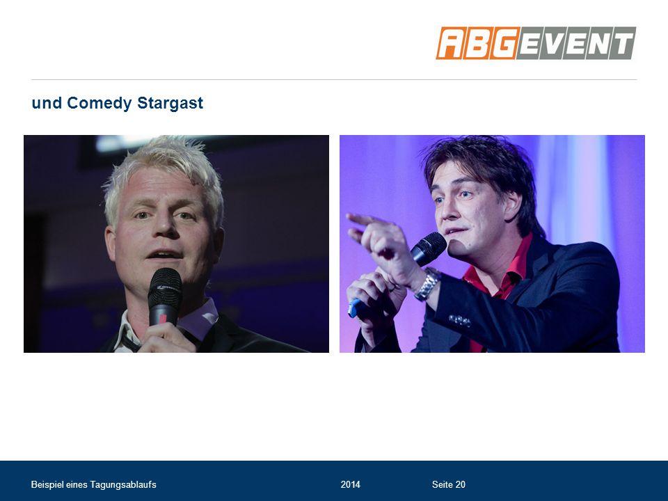 und Comedy Stargast Beispiel eines Tagungsablaufs 2014