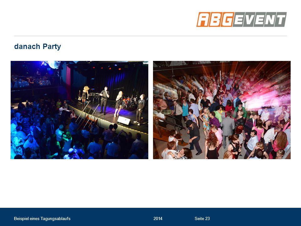 danach Party Beispiel eines Tagungsablaufs 2014