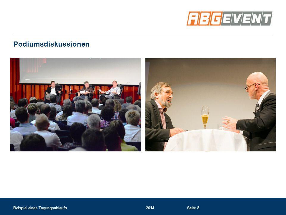 Podiumsdiskussionen Beispiel eines Tagungsablaufs 2014