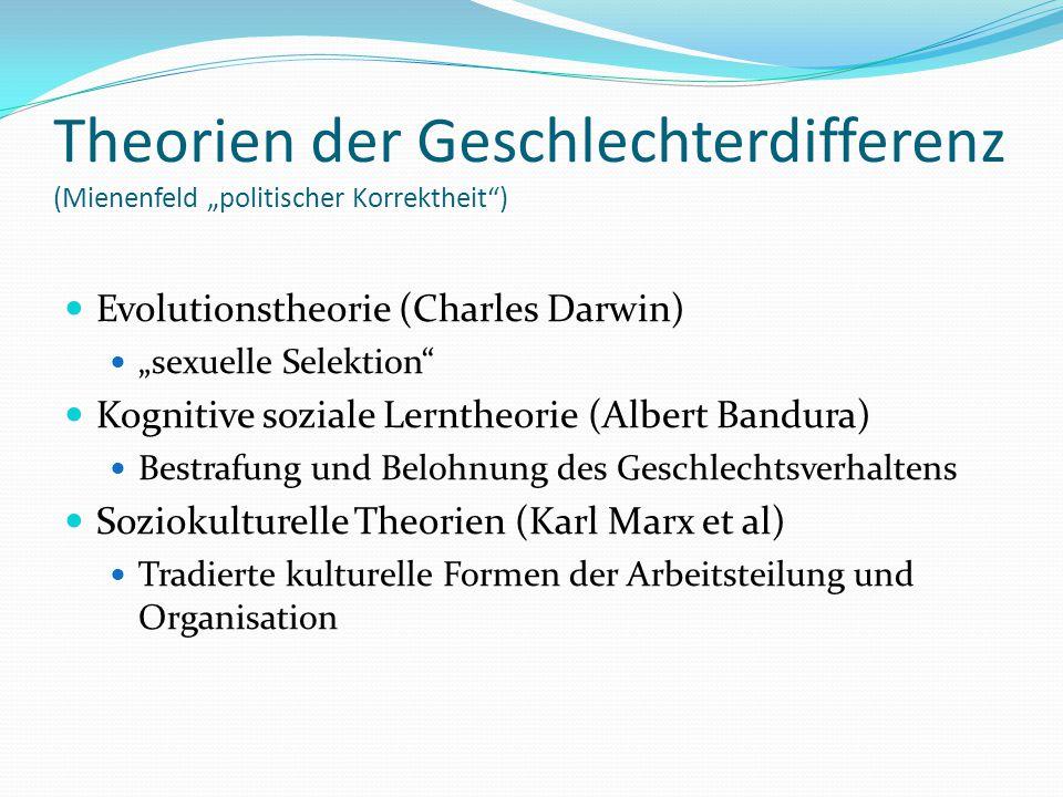 """Theorien der Geschlechterdifferenz (Mienenfeld """"politischer Korrektheit )"""