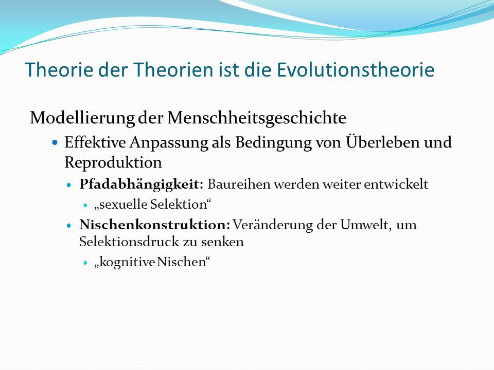 Theorie der Theorien ist die Evolutionstheorie