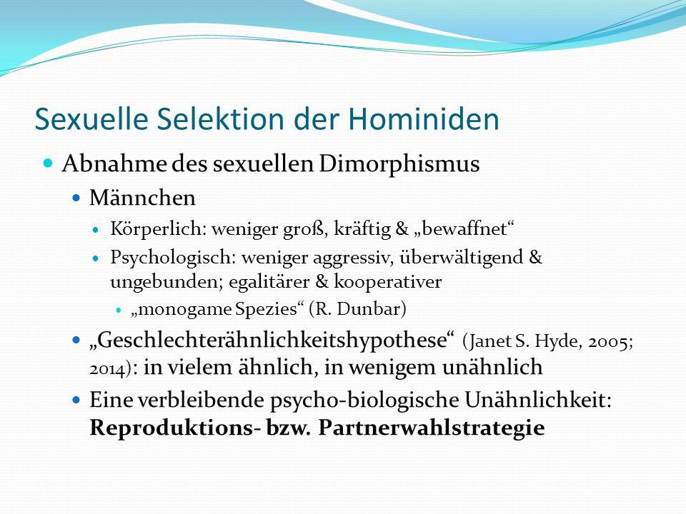 Sexuelle Selektion der Hominiden