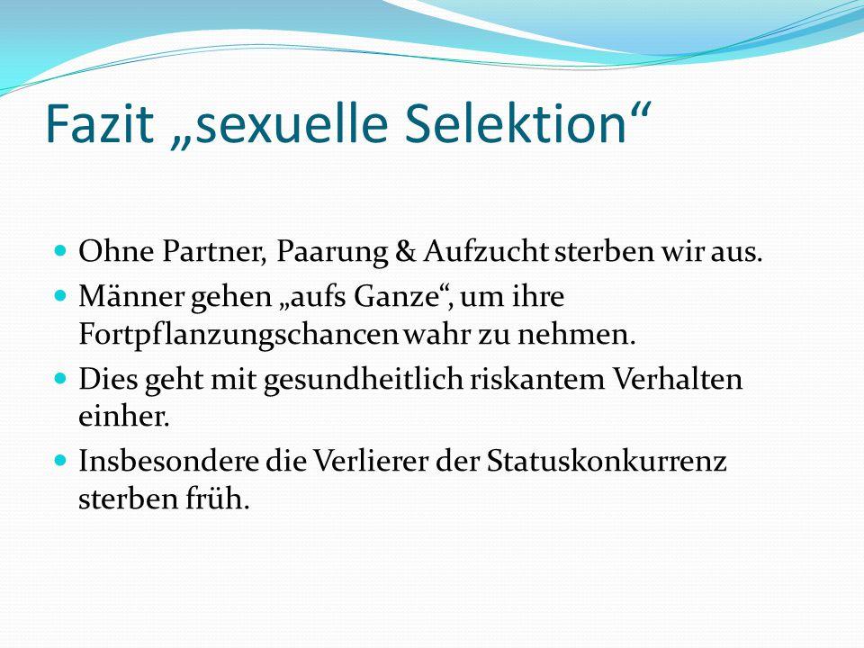 "Fazit ""sexuelle Selektion"